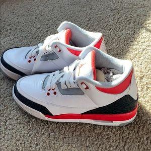 Jordan retro 3 fire red kids/women